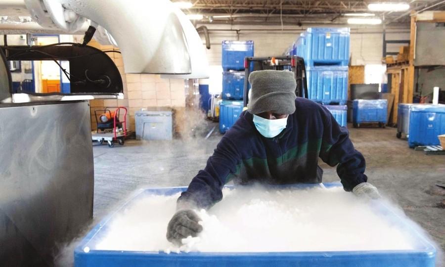 Mantener frío con hielo seco